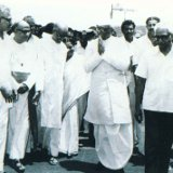 Sri. Neelam Sanjeeva Reddy, the then President of India, being greeted